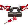 Red Cycling Products High Secure Chain Plus - Antivol chaîne - rouge/blanc